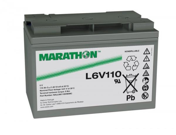 Exide Marathon L6V110 6V 112Ah AGM Blei Akku VRLA