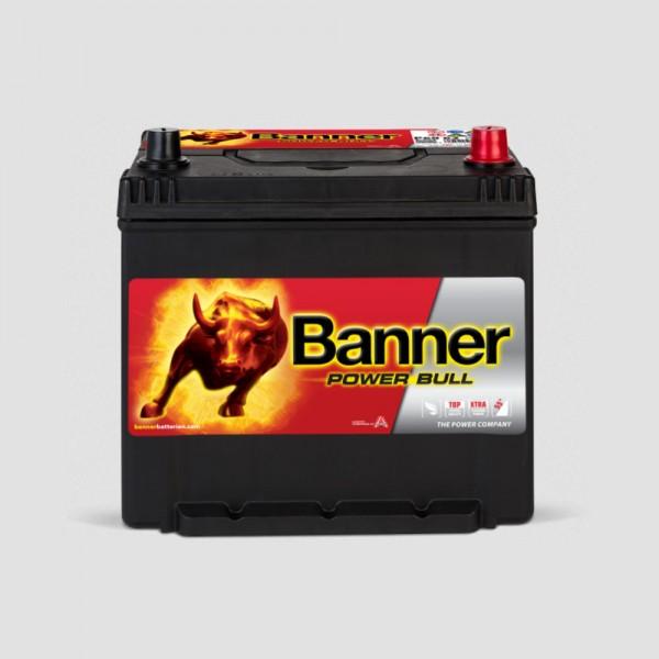 Banner P6062 Asia Power Bull 12V 60Ah 510A Autobatterie