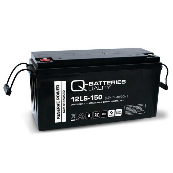 Q-Batteries 12LS-150 / 12V - 158Ah Blei Akku Standard-Typ AGM VRLA 10 Jahres Typ