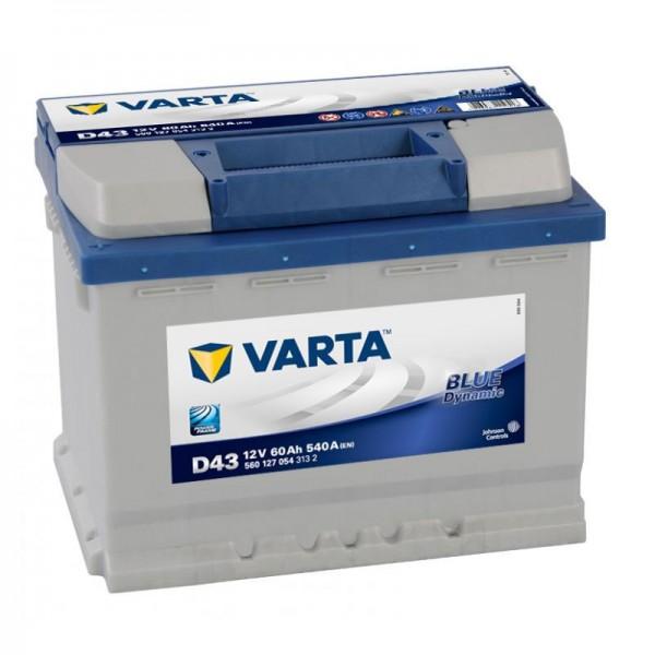 VARTA D43 Blue Dynamic 12V 60Ah 540A Autobatterie 560 127 054