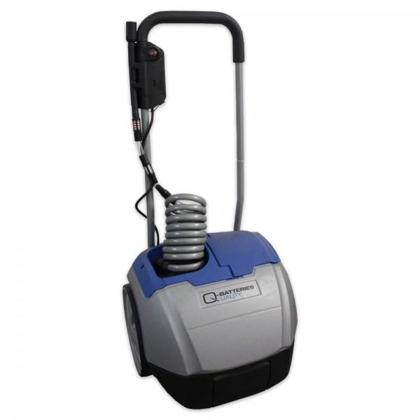 Aquamatik Trolley 26l mobiler Wasserwagen mit Pumpe für Batterien inkl. Ladegerät 230V