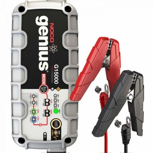 Noco Genius Multifunktions-Ladegerät G15000 EU 12V/ 24V 15A für Blei- und Lithium-Akkus bis 400Ah mi