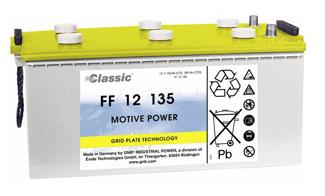 Exide Classic FF 12 135 Antriebsbatterie 12 Volt 135 Ah (5h) drivemobil Traktionsbatterie