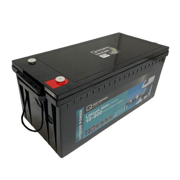 Q-Batteries Lithium Akku 12-200 12,8V 200Ah 2560Wh LiFePO4 Lithium-Eisenphosphat