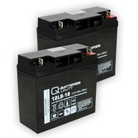 Ersatzakku für Brandmeldezentrale Minimax FMZ 5000 mod S 2 x AGM Batterie 12V 18Ah mit VdS