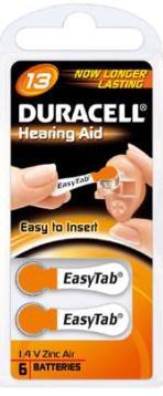 Duracell ActivAir Easy Tab 13 Hörgeräte Batterie 1,4V (6er Blister)