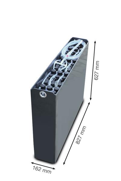 Q-Batteries 24V Gabelstaplerbatterie 2 PzS 230 Ah DIN A (827 * 162 * 627mm L/B/H) Trog 57014021 ink
