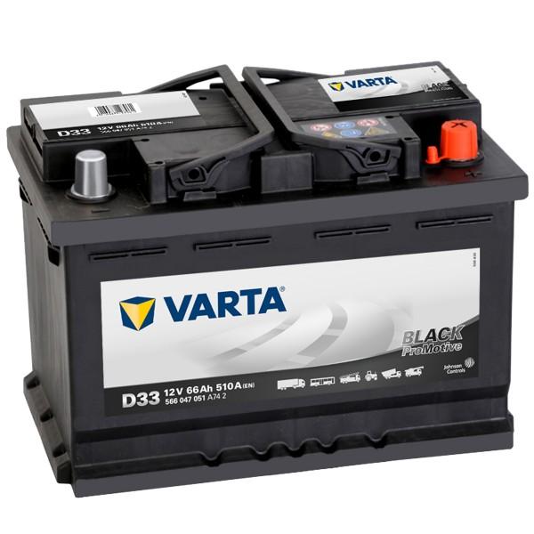 VARTA D33 ProMotive Heavy Duty 12V V 66Ah 510A LKW Batterie 566 047 051