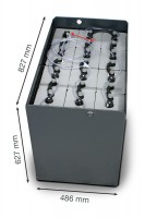Q-Batteries 24V Gabelstaplerbatterie 8 PzS 920 DIN A (827 x 486 x 627) Trog 57014037 inkl. Aquamatik