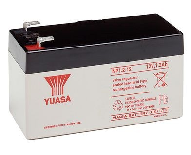 Yuasa NP1.2-12 1,2Ah 12V Bleiakku / AGM NP 1.2-12 VdS Zulassung