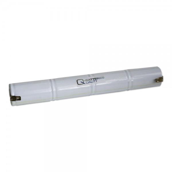 Akku Pack 4,8V 4000mAh für Notbeleuchtung Stab NiCd L4x1 4xD-Hochtemperaturzellen Faston +/-4,8mm