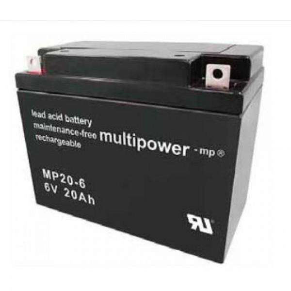 Multipower MP20-6 / 6V 20Ah Blei Akku AGM