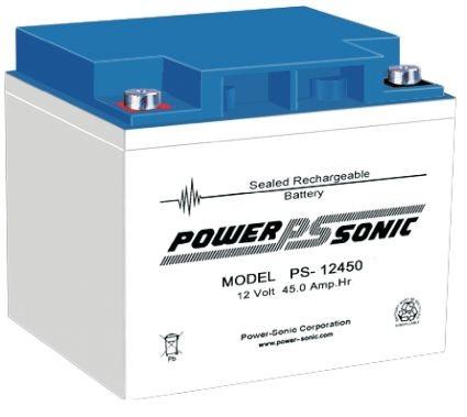 Powersonic 12V 45Ah Blei-Vlies Akku AGM VRLA PS 12450 VdS