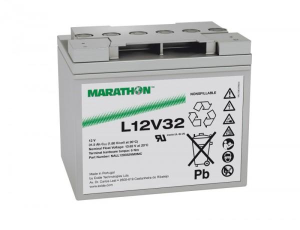 Exide Marathon UL12V32 12V 31,5Ah AGM Blei Akku VRLA