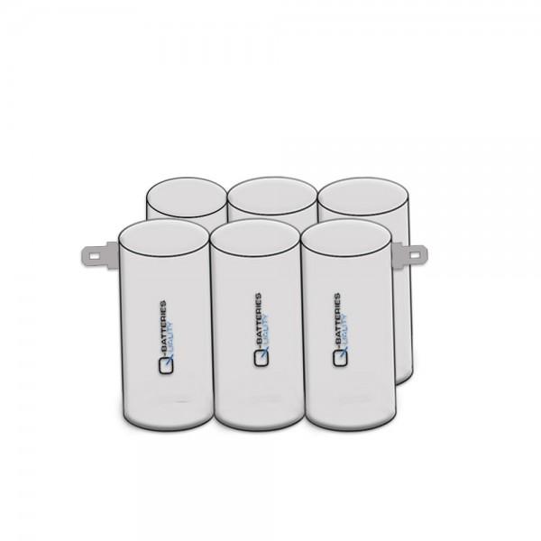 Akku Pack 7,2V 2400mAh D-Reihe NiMH F3x2 AA-Zellen / Faston +6,3/ -4,8mm