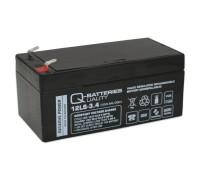Q-Batteries 12LS-3.4 12V 3,4Ah Blei-Vlies Akku / AGM VRLA mit VdS