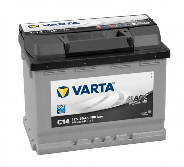 VARTA C14 Black Dynamic 12V 56Ah 480A Autobatterie 556 400 048
