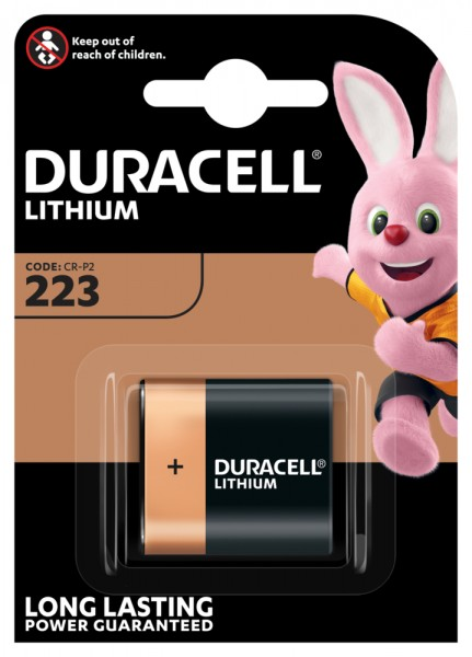 Duracell Ultra DL 223 CR-P2 / 6 Volt Lithium-Fotobatterie (1er Blister) UN3090 - SV188