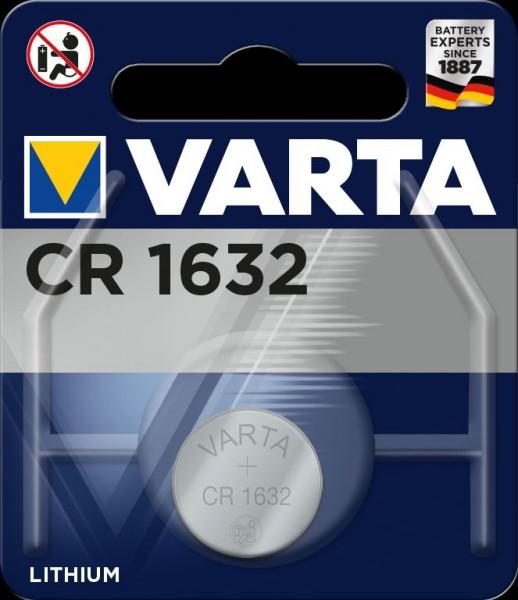 Varta Electronics CR1632 Lithium Fotobatterie 3V (1er Blister) UN3090 - SV188
