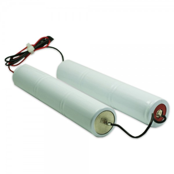 Akku Pack 7,2V 4000mAh Stab NiCd L3+L3+10cm Brücke 6xD-Hochtemperaturzellen / Kabel (beidseitig)