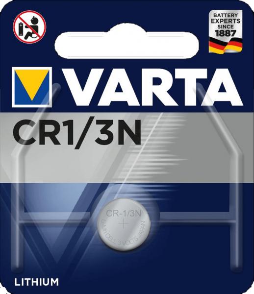 Varta Electronics CR 1/3N Lithium Knopfzelle 3V (1er Blister) UN3090 - SV188
