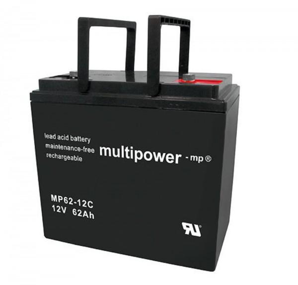 Multipower MP62-12C / 12V 62Ah Blei Akku AGM Zyklentyp