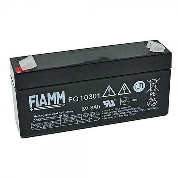 Fiamm FG10301 6V 3.0Ah Blei-Vlies Akku AGM VRLA mit VdS