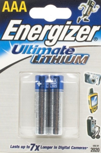 Energizer Ultimate Lithium L92 Micro AAA Batterie (2er Blister) UN3090 - SV188