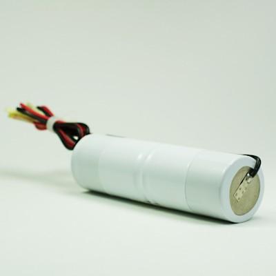 Akku Pack 2,4V 4000mAh für Notbeleuchtung Stab NiCd L2x1 2xD-Hochtemperaturzellen Kabel