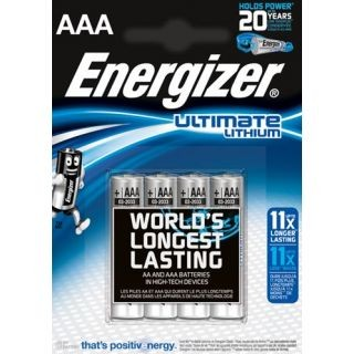 Energizer Ultimate Lithium L92 Micro AAA Batterie (4er Blister)