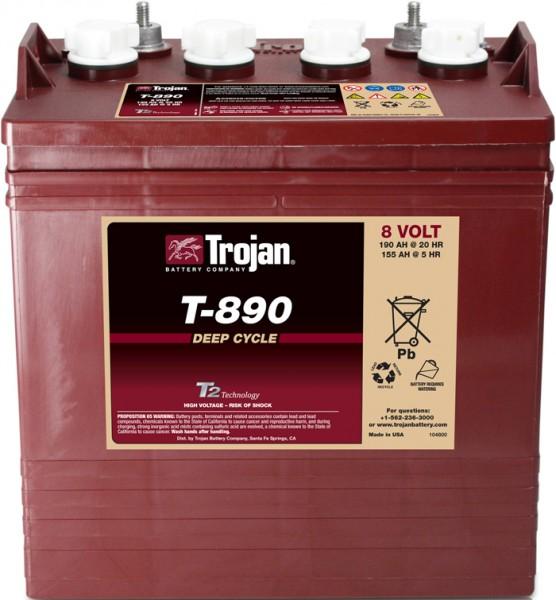 Trojan T-890 8V 190Ah Deep Cycle Traktionsbatterie ELPT-Anschluss