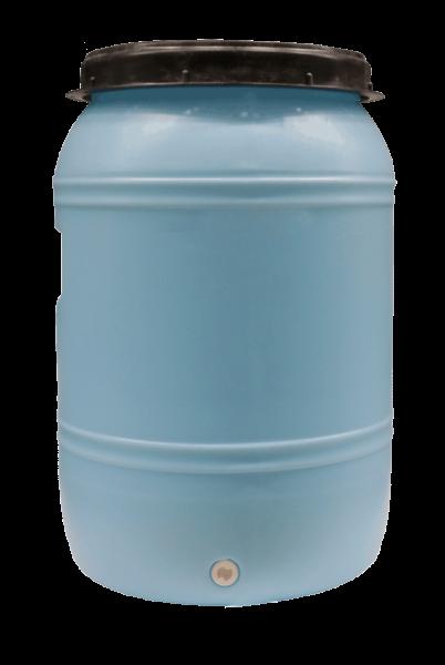 Fallwasserbehälter 60l mit Auslaufhahn, Fließanzeiger mit Filter, Schlauch (4m) und Kupplung