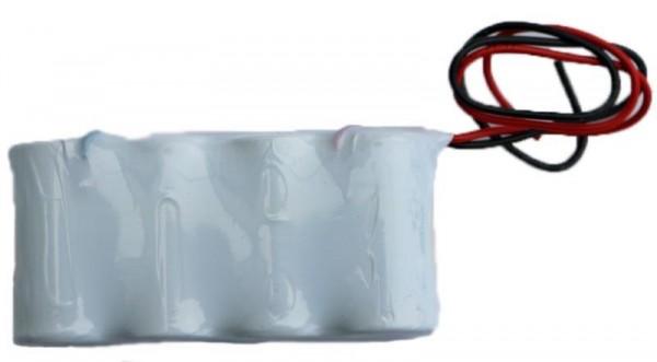 Akku Pack 4,8V 1800mAh für Notbeleuchtung Reihe NiCd F4x1 4xSub-C Hochtemperaturzellen Kabel