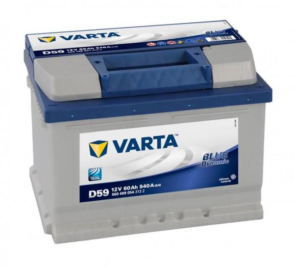 VARTA D59 Blue Dynamic 12V 60Ah 540A Autobatterie 560 409 054