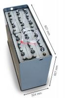 Q-Batteries 24V Gabelstaplerbatterie 5 PzS 625 DIN A (827 x 324 x 627) Trog 57014028 inkl. Aquamatik