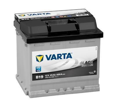 VARTA B19 Black Dynamic 12V 45Ah 400A Autobatterie 545 412 040