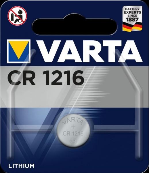 Varta Electronics CR1216 Lithium Knopfzelle 3V (1er Blister) UN3090 - SV188