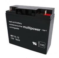 Multipower MP18-12 / 12V 18Ah Blei Akku AGM mit VdS Zulassung