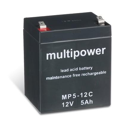 Multipower MP5-12C / 12V 5Ah Blei Akku Zyklentyp