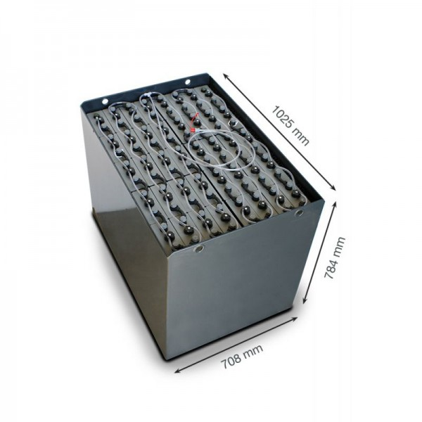Q-Batteries 80V Gabelstaplerbatterie 4 PzS 560 DIN A (1025 x 708 x 784) Trog 57019023 inkl. Aquamati