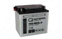 Q-Batteries Motorradbatterie Y60-N24L-A 530 30 12V 30Ah 280A