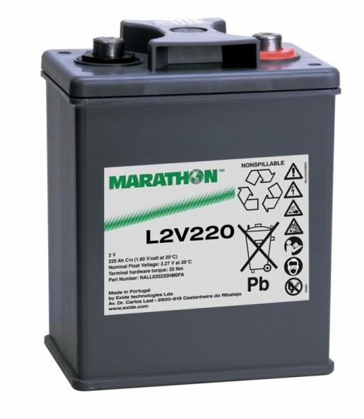 Exide Marathon L2V220 2V 220Ah AGM Blei Akku VRLA