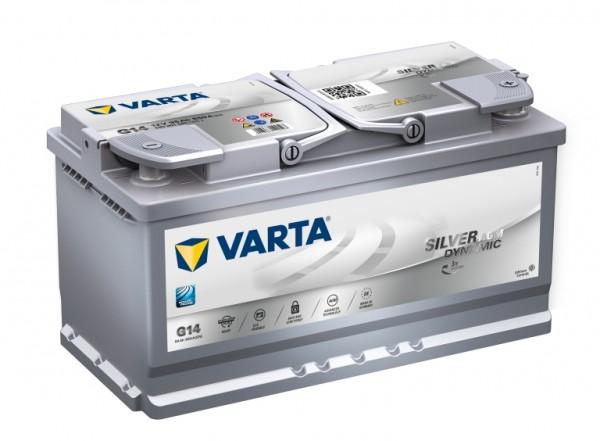 VARTA G14 Silver Dynamic AGM 12V 95Ah 850A Autobatterie Start-Stop 595 901 085