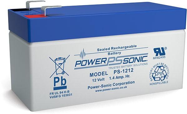 Powersonic 12V 1,2Ah Blei-Vlies Akku AGM VRLA PS 1212 VdS