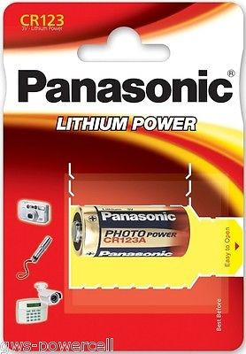 Panasonic CR123A 3V Photo Power Lithium Batterie (1er Blister) UN3090 - SV188
