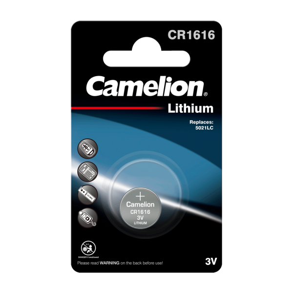 Camelion CR1616 Lithium Knopfzelle (1er Blister) UN3090 - SV188