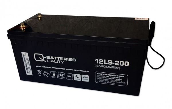 Q-Batteries 12LS-200 / 12V - 208Ah Blei Akku Standard-Typ AGM VRLA 10 Jahres Typ