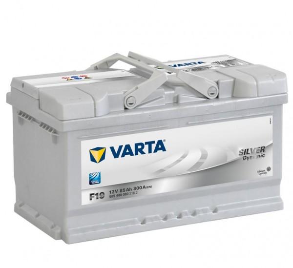 VARTA F19 Silver Dynamic 12V 85Ah 800A Autobatterie 585 400 080
