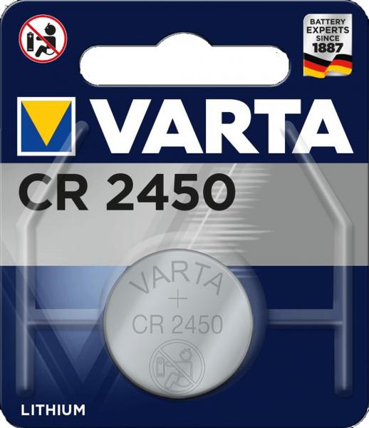 Varta Electronics CR2450 Lithium Knopfzelle 3V (1er Blister) UN3090 - SV188