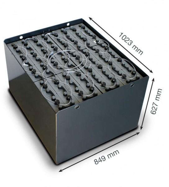 Q-Batteries 80V Gabelstaplerbatterie 5 PzS 625 DIN A (1023 x 849 x 627) Trog 57019018 inkl. Aquamati